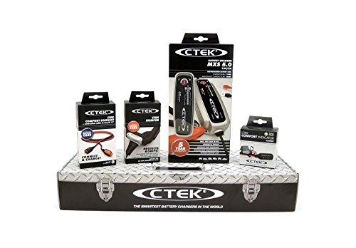 CTEK MXS5.0 (56-305) Toolbox Set Caricabatteria, 12V-5A, con Accessori di Connessio