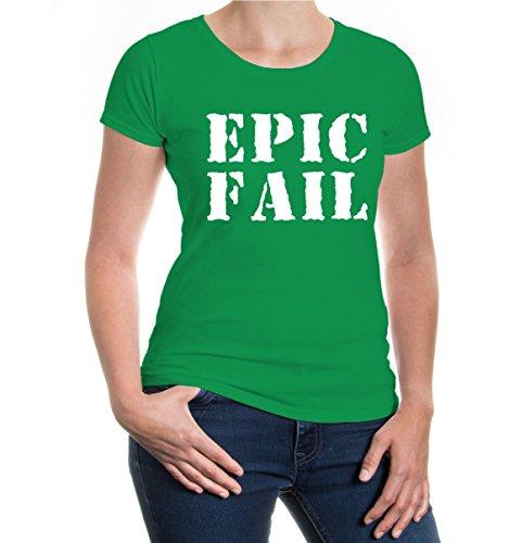 buXsbaum® Girlie T-Shirt Epic Fail Kellygreen-White