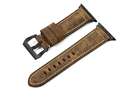 iStrap 42mm Band für Apple Watch Serie 1 und 2 Assolutemente Leder Ersatzband für Apple Watch Sport Edition-Vintage Brown