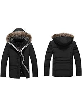 MHGAO Engrosada chaqueta de invierno de los nuevos hombres del estilo por la chaqueta con capucha , black , 2xl