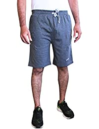 ELK Mens's Grey Cotton Shorts Trouser Clothing Set
