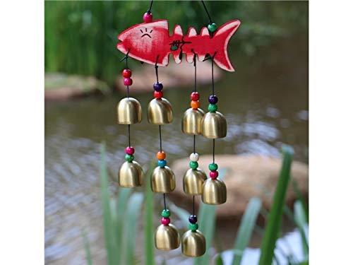 xinxi home home regalo campane di pesce in legno campanelli eolici per cortile giardino all'aperto home room decor appeso ornamento regalo feng shui mobile