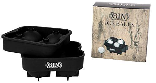 XXL-Eiskugelform für 4 Eiskugeln | 4,5 cm Durchmesser | Silikon - Eiswürfelform | Eisform | Eiskugel | EIS Balls | Eiswürfel | Ice Ball | Perfekt für Gin Tonic, Whiskey, Moscow Mule -