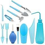 12 piezas kit de herramientas de transplantar suculentas Mini jardín Plantación de Herramientas de...