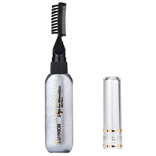 Tefamore Temporäre Haarfarbe Wimperntusche Haarfarbe Creme Ungiftig DIY Haarfärbemittel Pen, Grau