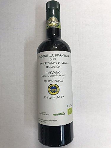 Olio biologico extravergine di oliva igp, 750 ml, raccolta 2017, toscana, mgmshop