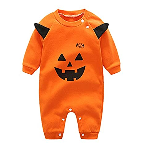 Bébé Halloween - CHIC-CHIC Halloween Combinaison Citrouille Démon Imprimé Manches