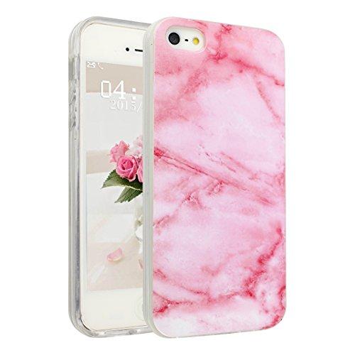 Handyhülle iPhone 6 Marmor, Asnlove Silkon iPhone 6S Marble Hülle Silicone TPU mit IMD Schale Case Cover Tasche Schutzhülle für Apple iPhone 6 6s 4.7 Inch, Rose Color-2