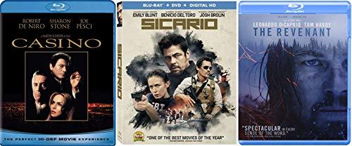Mafia Action Thrillers - Martin Scorsese\'s Casino, Sicario & The Revenant 3-Blu-ray Bundle