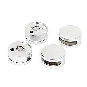 3mm-5mm dik Glas rond zinklegering clips klemhouder 4 stuks
