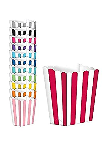 Amscan Candy Buffet Popcorn 5 Treat Boxes,