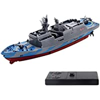 ALLCACA 2.4G Boat Remote Control Warship High-Speed RC Battleship Lifelike Military Model Boat Toy for Kids - Compare prices on radiocontrollers.eu