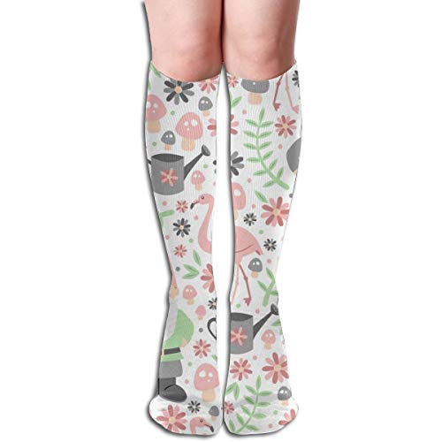 Pillowcase Wholesale Gnome Garden Women Tube Knee Thigh High Stockings Cosplay Socks 50cm (19.6 inch) Lady Blue Garden Gnome
