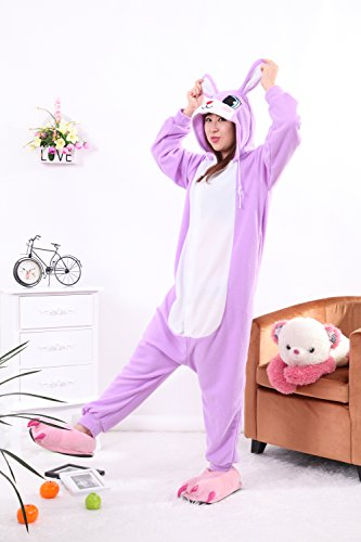 Honeystore Jumpsuit Cartoon Häschen – Cosplay Pyjama Schlafanzug - 4