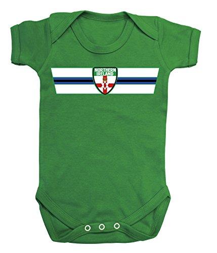 Northern Ireland NORDIRLAND Euro 2016 Retro Strip T-Shirt *Wahl der Herren Damen Kinder Baby Wachsen*