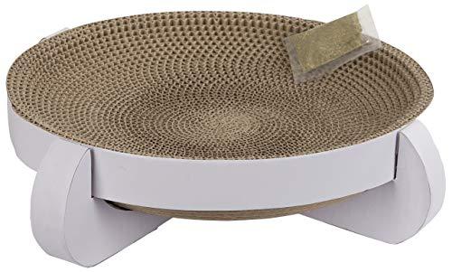 t Platinum aus Pappe mit Catnip 35 x 35 x 10 cm, weiß ()