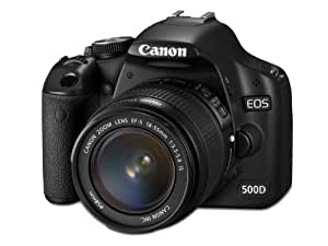 Canon EOS 500D SLR-Digitalkamera (15,1 Megapixel) Kit inkl. EF-S 18-55mm IS (bildstabilisiert) und EF-S 55-250mm IS (bildstabilisiert)