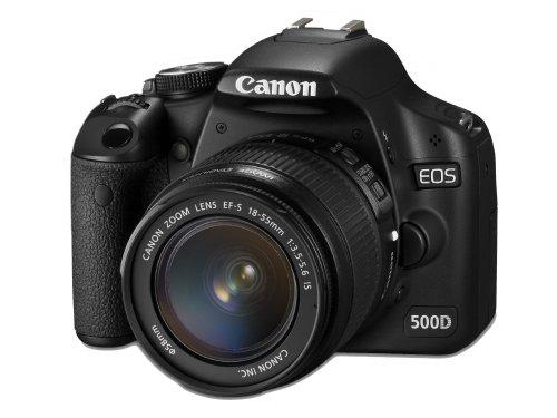 Canon EOS 500D SLR-Digitalkamera (15,1 Megapixel) Kit inkl. EF-S 18-55mm IS (bildstabilisiert) und EF-S 55-250mm IS (bildstabilisiert) -