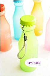 Skywalk 2Pc Bpa-Free Candy Color Water Bottle With Hand Strap Lanyard ,18.5-Ounce/550Ml(Random Color)