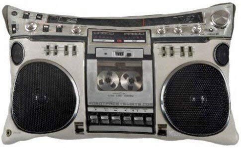 apnzll Amazing Lovely Vintage 80s Boombox Ghettoblaster Design Luxury Printing Pillow Cover Rectangle Throw Pillowcase Zippered Cover 20 X 30 Inch