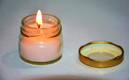 Pure Source India Scented Mini Travel Jar Candle 30 Gram Each Set Of 4 Pcs White Unscented Candles .