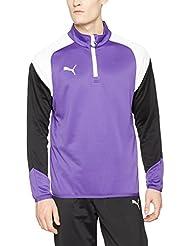 Puma Esito 41/4Zip Training Top, primavera/verano, hombre, color prism violet-puma white-ebony, tamaño XL
