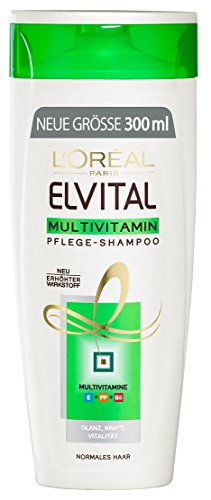 L'Oréal Paris Elvital Shampoo Multivitamin, 3er Pack (3 x 300 ml)