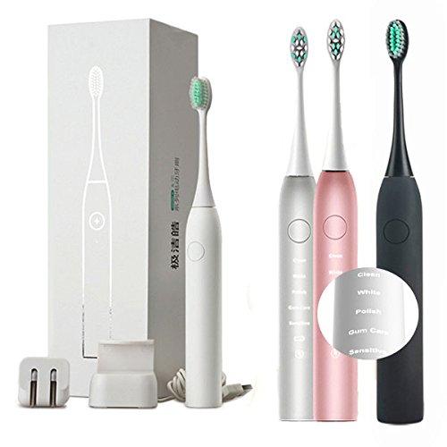 Sonic Pulse Zahn (Bazaar junjiada Puls Schalltechnologie weiße Zähne Reiniger Zahnbürste weichen Borsten Zahnbürste für Erwachsene)