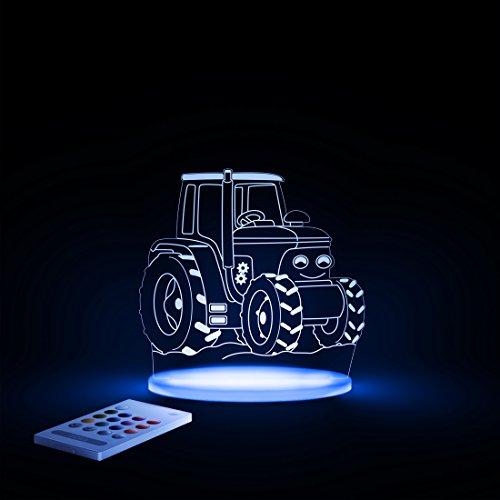 Aloka Traktor Motiv Nachtlicht - Kinderzimmer Baby LED Lampe Farbwechsel Fernbedienung Schlafmodus, Mehrfarbig - 2