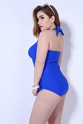 XL übergewichtige Strand Rock Bikini Badeanzug 50 blau