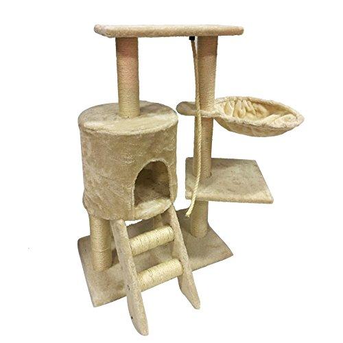 LuckyPet Rascador para gato Arbor Juguete Beige Afilador Mascotas Animales (Cod. LU8012)