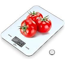 AGM Digital Báscula Cocina, Electrónica Balanza Cocina con LCD Pantalla, Peso Precisión Alimentos,