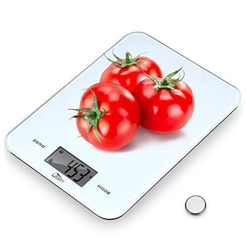 AGM Digital Báscula Cocina, Electrónica Balanza Cocina con LCD Pantalla, Peso Precisión Alimentos, Balanza de Alimentos Multifuncional, Rango de Pesaje 1g / 0.1 oz a 8kg / 17.6 LB