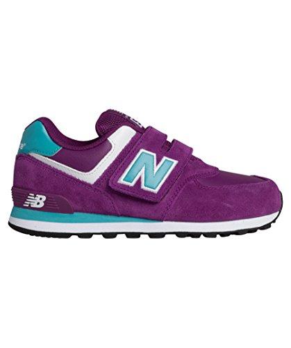 New Balance 574 Scarpe Bambina Ragazza KG574PBY Sneaker Viola Celeste Purple