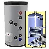 150 200 300 500 750 1000 L Liter kombinierter Warmwasserspeicher mit 1 Wärmetauscher und 3 9 12 kW Elektroheizstab - Standspeicher Boiler Kombispeicher …