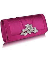 Cristal fleuri soirée pour femme (25,42 x 12,70 cm) avec housse PreciousBags