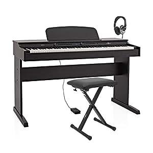 DP-6 Piano numérique avec support casque pédale et banc Gear4music