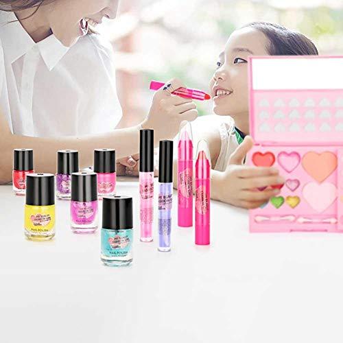 (Kinder-Make-up-Set Kinder Kosmetik Princess Makeup Box Waschbar Make-up-Set mit blinkenden Kosmetik-Etui, ideal Geburtstag & Weihnachtsgeschenk für kleine Mädchen)