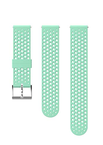 Suunto  Ersatz-Uhrenarmband, für alle Suunto 3 Fitness Uhren, Silikon, Länge: 21,7 cm, Stegbreite: 20 mm, Blau/Silber, Inkl. Stifte zur Montage, SS050178000 -