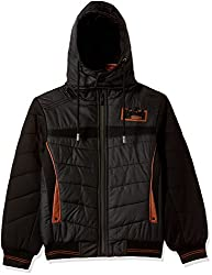 Fort Collins Boys Regular Fit Synthetic Jacket (R1074_Black_34 (13 - 14 years))