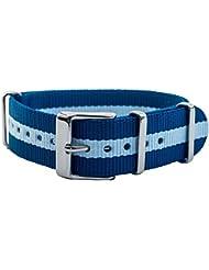 Timex Weekender OTAN de banda reloj de pulsera durchzug banda cinta de tela con correas de metal 18mm Multicolor tw7C07300