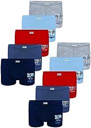 LOREZA ® 10 Boxer Ragazzi Bambino Intimo Mutande Ragazzo in Cotone 2-13 Anni
