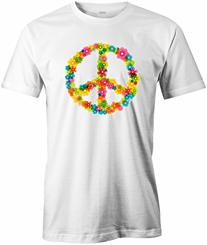 Peace Flower - Herren T-Shirt Weiß