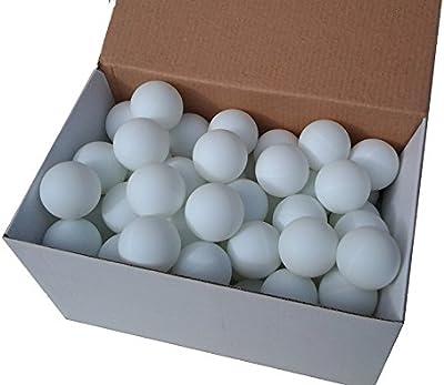 Der Sportler Beer Pong - Juego de 72 pelotas, color blanco