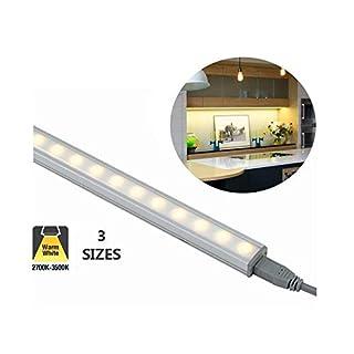 Ansell Axiom 12V LED Under Cabinet Kitchen Lights, Indoor Strip Lights 500mm | 7.5W Warm White (3K)
