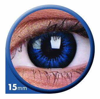 ColourVUE Colorvue Big Eyes 15mm Cool Blue, 2 Stück/BC: 8.6 mm/DIA: 15.0/0,00 Dioptrien