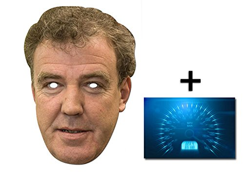 Jeremy Clarkson berühmtheit Single Karte Partei Gesichtsmasken (Maske) Enthält 6X4 (15X10Cm) - Top Promi Kostüm