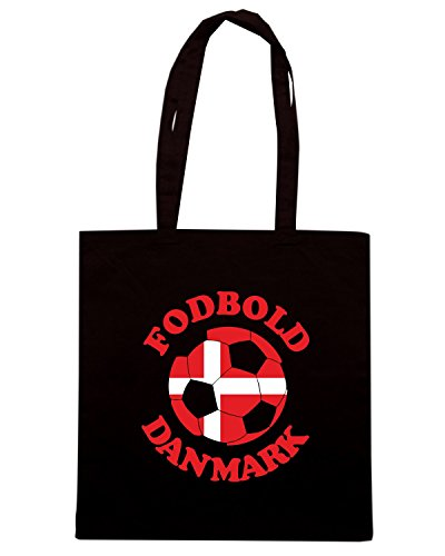 T-Shirtshock - Borsa Shopping T0711 fodbold danmark danimarca calcio ultras Nero