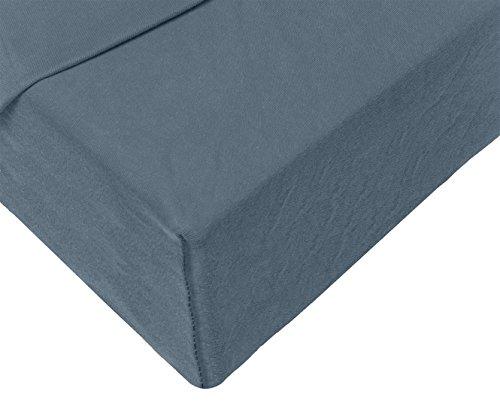 Double Jersey - Spannbettlaken 100% Baumwolle Jersey-Stretch bettlaken, Ultra Weich und Bügelfrei mit bis zu 30cm Stehghöhe, 160x200x30 Anthrazit - 4