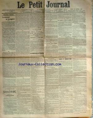 PETIT JOURNAL (LE) [No 13170] du 16/01/1899 - LE MONUMENT DE VERCINGETORIX - MODIFICATION AU FUSIL LEBEL - E. PENDARIES - LES CHEMINS ROULANTS DE L'EXPOSITION - L'EMPRUNT INDOCHINOIS - COURRIER D'EXTREME-ORIENT - LE NOUVEAU MAIRE D'ALGER - M. MAX REGIS - GUERRE ET MARINE - LES ENQUETES A LA COUR DE CASSATION - LE COMMANDANT ESTERHAZY - M. BERTUIUS - MAITRE CABANES - INCIDENT BARD - M. MAZEAU -